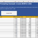 SAP GUI SCRIPTING – BOM CREATION